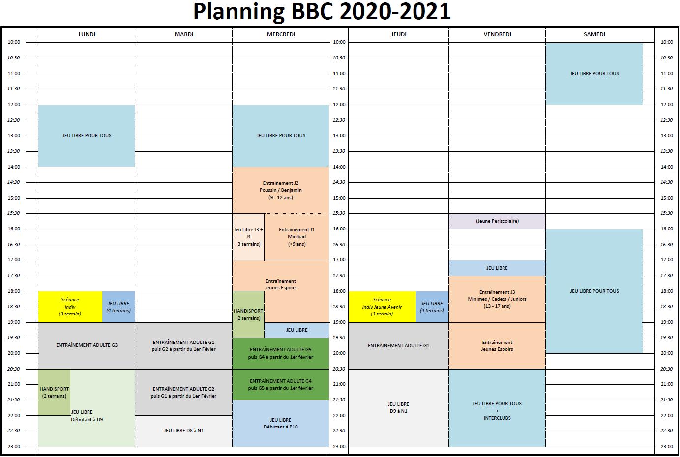 Planning BBC 2020-2021